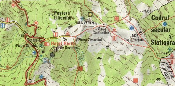Harta turistica rarau