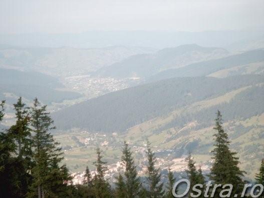 Valea Suhei văzută de pe Muntele Ostra
