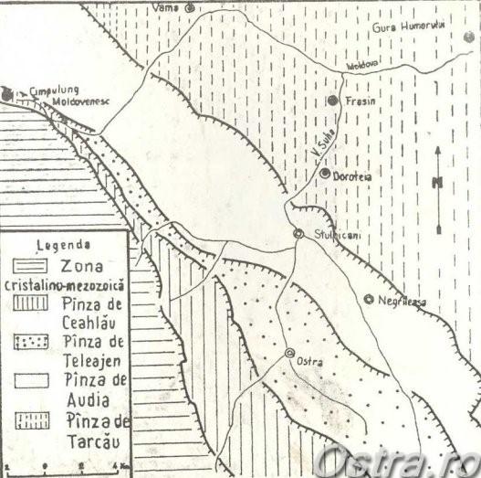 Harta geologică a bazinului Suha Bucovineană